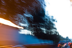 """Motion blurred tunnel exit.jpg (99%: """"Meh"""") Tags: sanfrancisco blurry driving highcontrast tunnel motionblur 1855mmkitlens nikond40"""