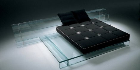 minimalist-sofa-bed-glass bed-modern furniture