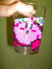 kirbi water (AEA_93) Tags: pink videogames kirbi hamabeads