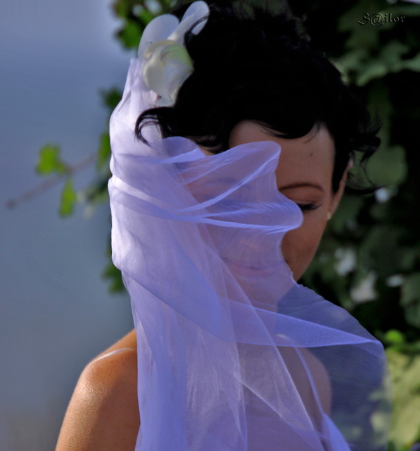 Bride with a Smile Behind the Veil