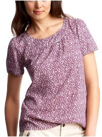 BNWOT Purple Floral shirred top from GAP- SOLD