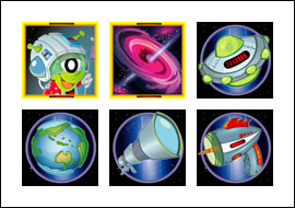 free Outta This World slot game symbols