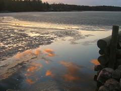 Sweden (chiberlin) Tags: reflection nature sweden frozenlake