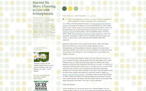 Suicidal No More: Life with Schizophrenia