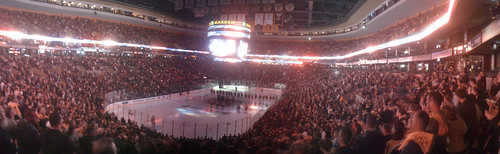 Bruins Opening Night panorama