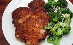 Breaded Pork and broccoli