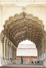 India (babasteve) Tags: people woman india architecture agra arches babasteve redfort mogul steveevans mogularchitecture