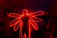 vitruvian (_ormolu) Tags: longexposure red man person outline tracing vitruvian multiplearms