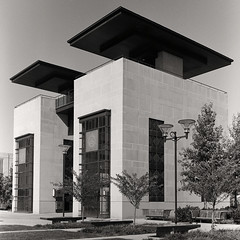 a006 (evan has got nothing to say) Tags: white black 6x6 film architecture modern square us nashville tennessee south hp5 medium format ilford 4000 rolleiflex6003src1000