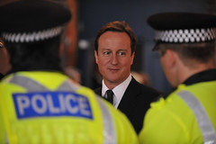 David Cameron meets Police officers in Manchester