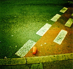 Kerb Crawling (Cherrybomb Ink) Tags: autumn party london weather ink happy lomography toycamera lofi excited 35mmfilm plasticcamera cherrybomb plasticcup drinkingcup funphotography myfirstroll dianaflash cherrybombink lomographyxproslide200 dianamini