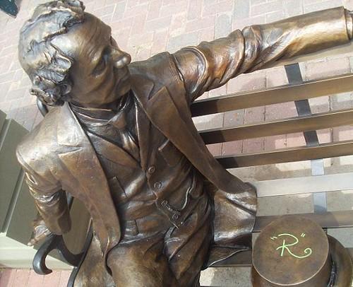 Sculpture of Sir John A MacDonald at Queen and Richmond