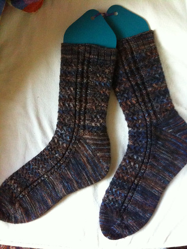 Mad color weave socks, fleece artist yarn