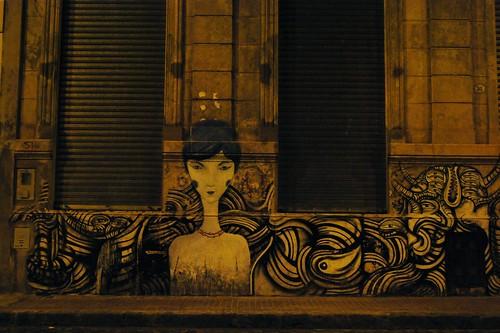 Obra de arte en una pared