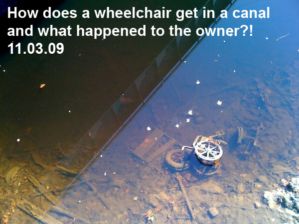 Wheelchair in Canal