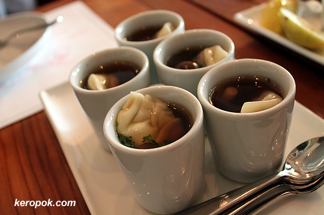 Dumpling Soup - Wasabi Dumpling and Wagyu Dumplings