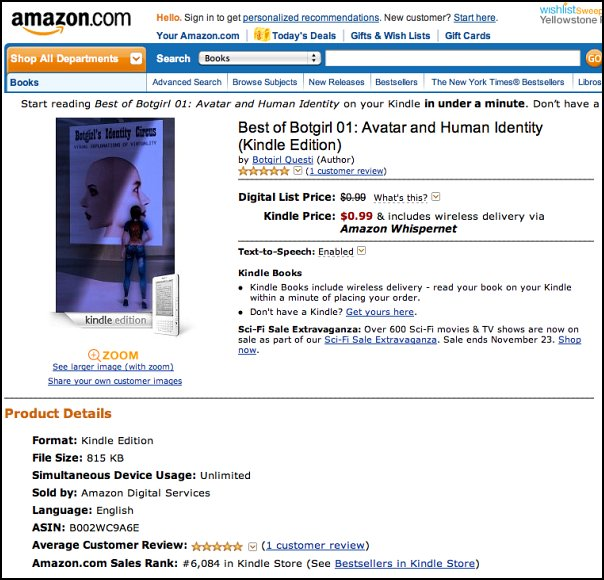 Botgirl on Amazon.com