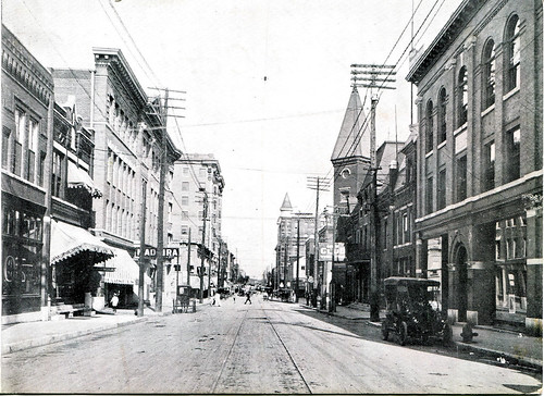View of Fourth Street looking east sometime after 1908.