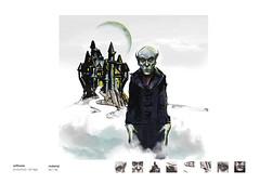 Nosferatu (eduardowestin) Tags: monster vampire nosferatu surreal dracula creepy fantasy castelo horror vampiro giz caricatura monstro