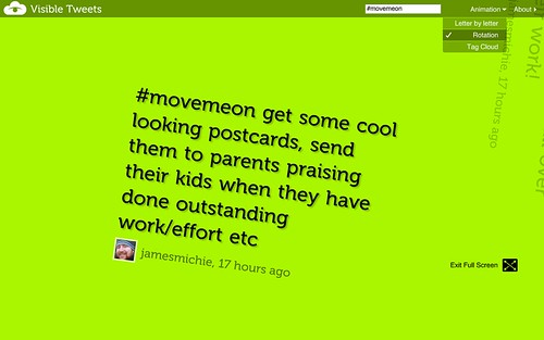 #movemeon viewed with visibletweets.com