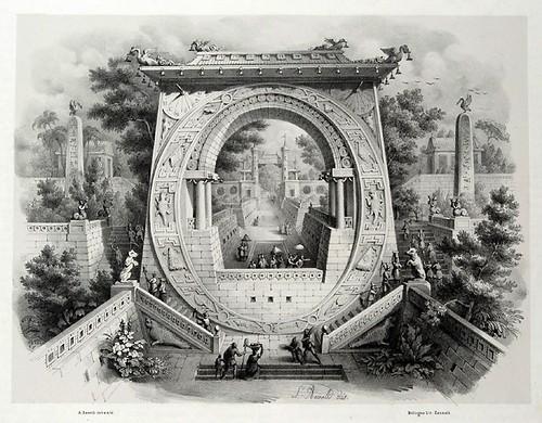 014-Letra O-Alfabeto pittorico- Antonio Basoli 1839-© Accademia di Belle Arti di Bologna