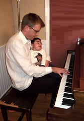 Oliver and Davd on the piano
