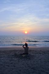 Inspiration (Zak Photography) Tags: sunset sea india beach yoga sand goa anjuna