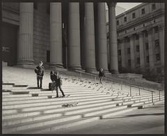 Law and Skaters (soelin) Tags: city 3 newyork voigtlander steps skateboard bessaiii