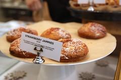 Strawberry Jammies (Renée S. Suen) Tags: toronto dessert strawberry sweet treats doughnut treat icingsugar delica jammy torontolife renéedinesout delicakitchen devinconnell strawberryjammy