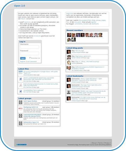 Startpagina Open 2.0