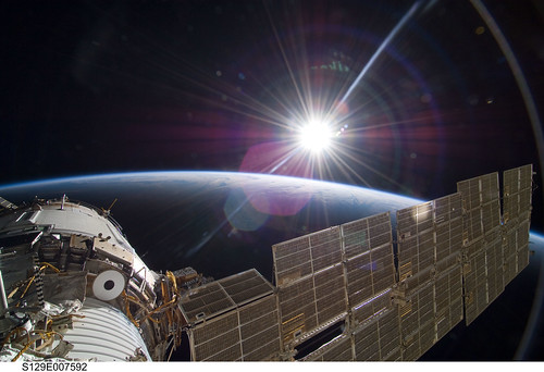 Sun Over Earth (NASA, International Space Station Science, 11/22/09)
