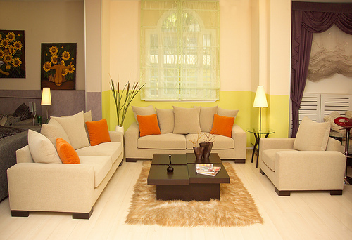 Green Living Room Design Trend 2010