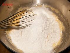Brazo gitano blanco-añadir harina