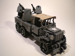 GMC CCKW with M45 Quad .50cal mount (PhiMa') Tags: truck lego wwii ww2 worldwar2 allies antiaircraft deuceandahalf generalmotorcars