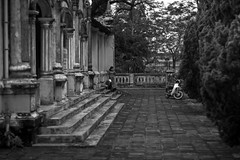 0025. (jhnhtt) Tags: travel bw bike stone movement stair mood path citadel steps atmosphere palace surface vietnam step backpacking walkway esplanade promenade paving feeling vibes tread bastion hue tone aura ambiance amble pavestone hu bananapancaketrail johnhattphotographer
