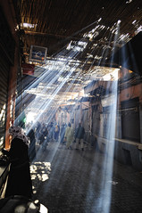 Morocco/Marrakech (Mait Jriado) Tags: africa street trip roof light vacation sun white holiday lines ray erasmus natural market smoke save3 save7 save8 delete save save2 save9 save4 morocco marrakech souk marrakesh rays save5 save10 smoky save6 sunrays sunray redcity savedbydeletemeuncensored maroko aafrika thepinnaclehof kanchenjungachallengewinner tphofweek25 k2challengewinner