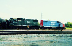 Switching activity at the Canadian National ex Illinois Central Crawford Yard. Chicago Illinois. July 2006.