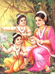 Sita with Luv Kush (hinduism) Tags: ma mother luv mata sita maa kush mataji ramayan lavkush luvkush