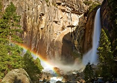 spectrum (Andy Kennelly) Tags: california morning blue trees light red mist motion green wet colors beautiful yellow misty waterfall rainbow rocks colorful long exposure day spectrum meadows rocky falls yosemite jagged lower tuolumne