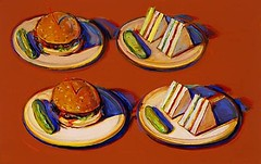 Wayne Thiebaud, Four Sandwiches, 1965
