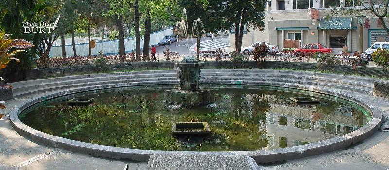 天狗庵前北投公園裏的噴水池