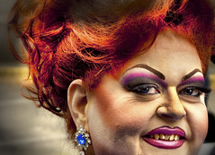 FireWire (flint photos) Tags: red oregon hair portland drag carlton makeup queen flint hdr aplusphoto