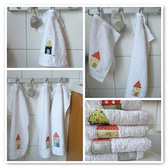 new towels (monaw2008) Tags: house bathroom handmade towel fabric applique monaw monaw2008