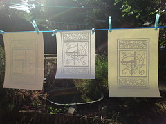 Three prints on the line