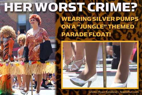 Her Biggest Crime? Lady Vera Parker wore silver heels on a