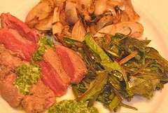 Steak chard and onions