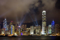 Symphony of Lights (BarneyF) Tags: urban building skyline landscape lights cityscape harbour hong kong lightshow symphony vicotria aplusphoto