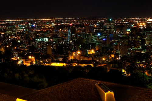 Downtown Montreal at Night from Mont-Royal HDR