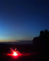 firework going off 2 (Jill Currier) Tags: camp weekend 4th july 2009 fishtail