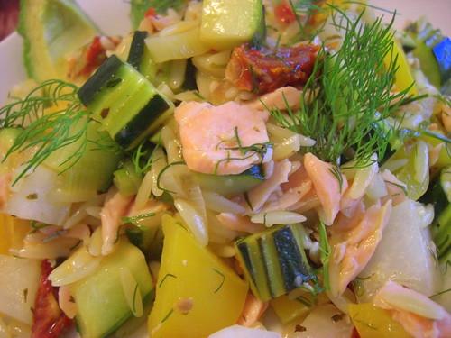 Orzo with veggies